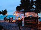 Soirée sur la plage au Kenya
