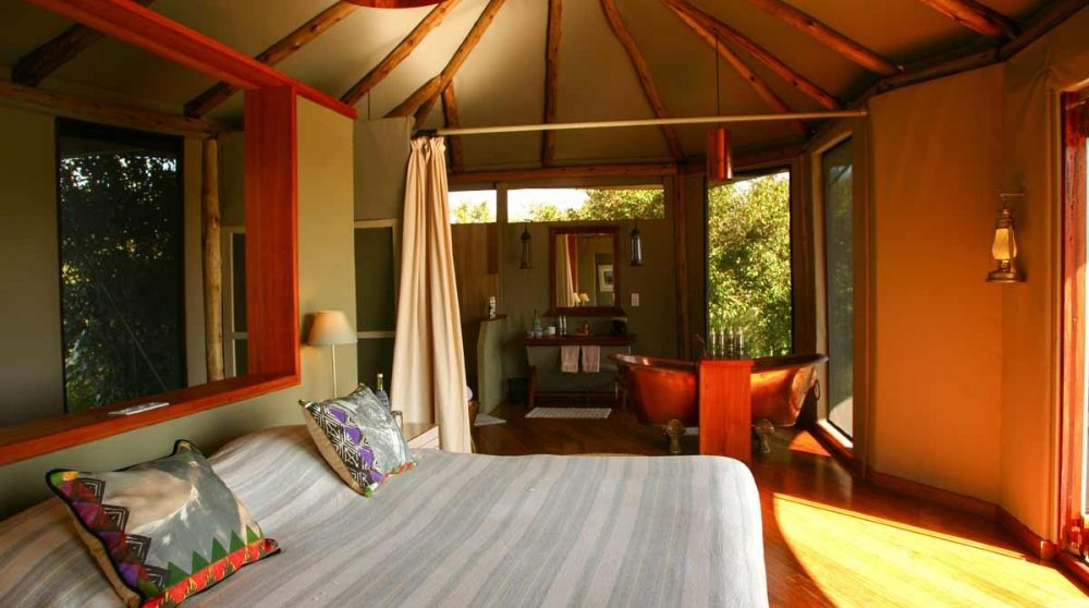 Lit dans une la Honeymoon au Kenya