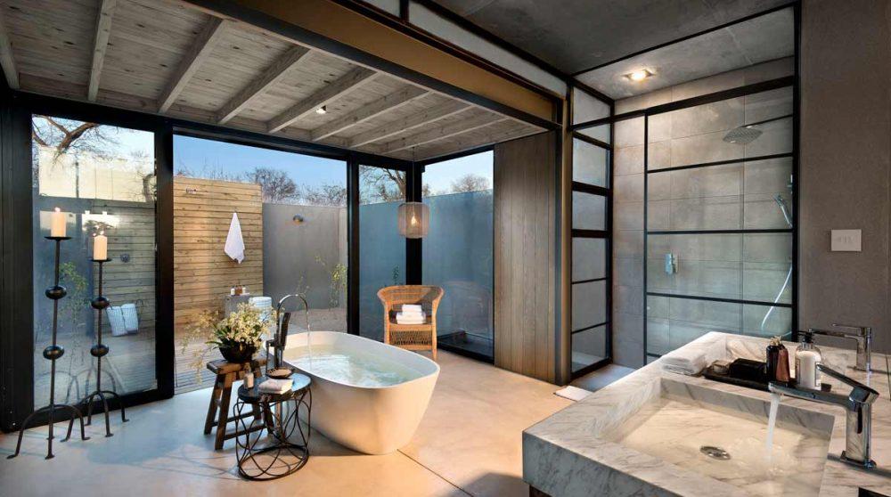 La salle de bains près du parc Kruger