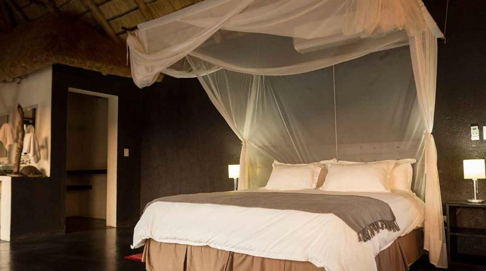 Le lit d'Ezulwini River Lodge