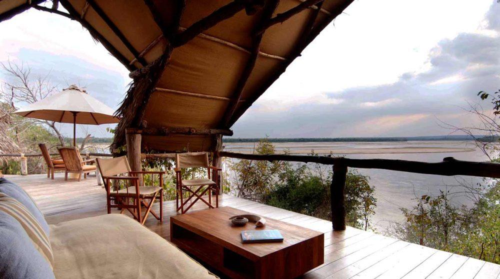 Terrasse d'une chambre en Tanzanie