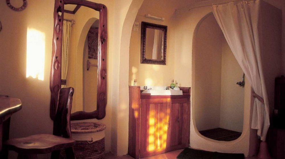 La salle de bains d'une chambre au Kenya
