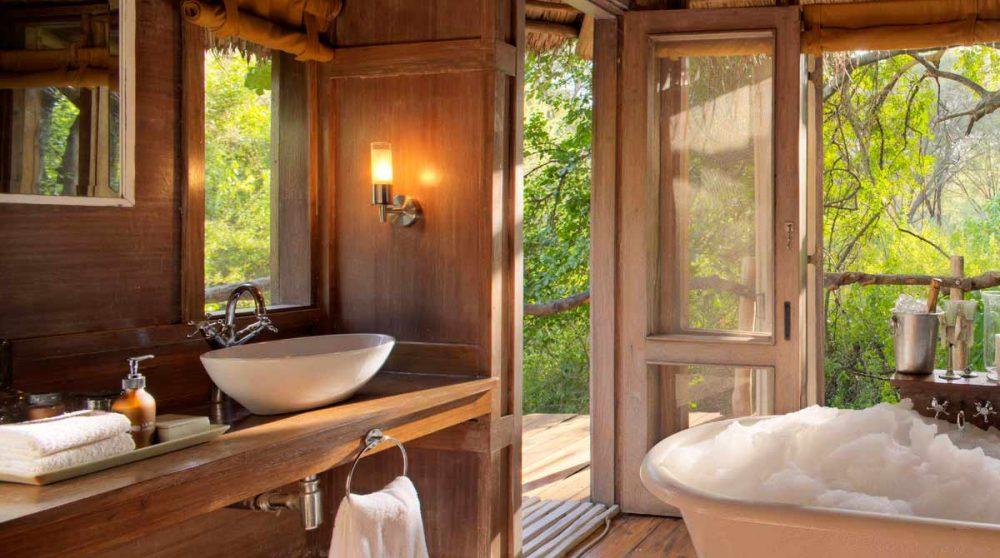 La salle de bains au Lac Manyara