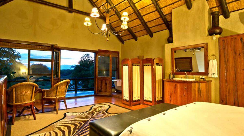 La vue du lit en Afrique du Sud