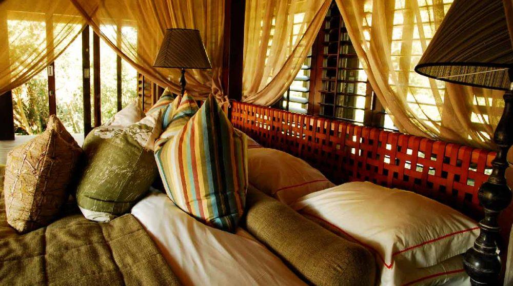 Un lit dans le Kwazulu Natal