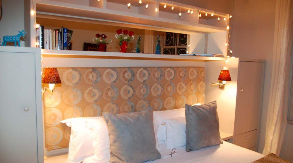 Une chambre avec lit double au Cap