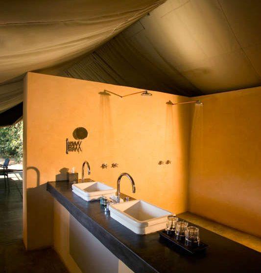 La salle de bains à Manyeleti