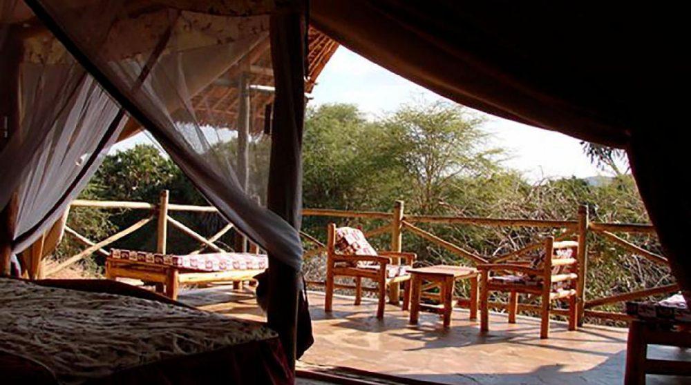 La vue depuis une chambre à Tsavo
