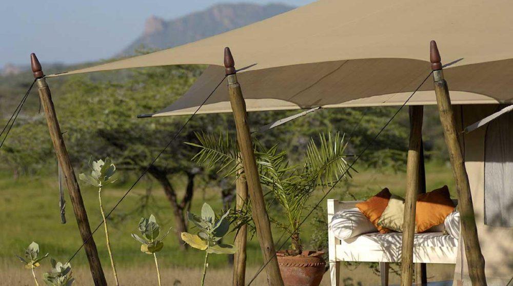 La vue depuis une tente à Shaba