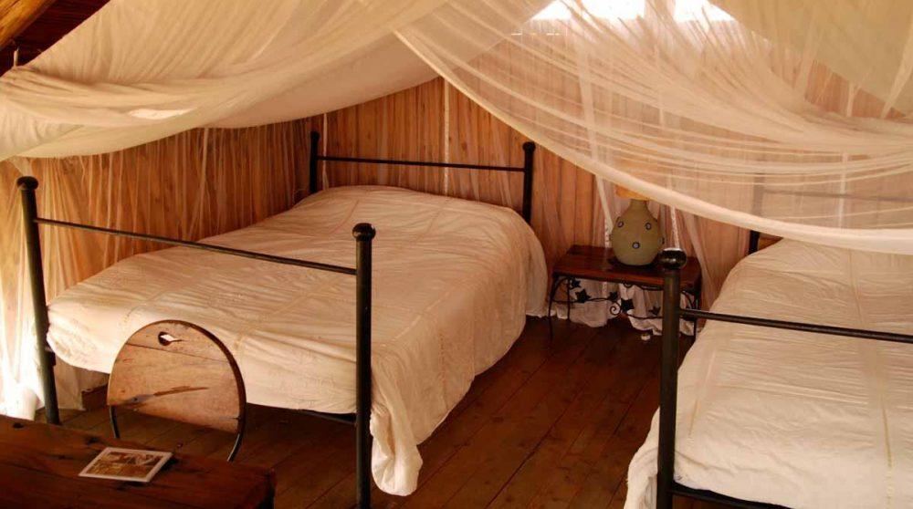 Une chambre avec deux lits à Nairobi