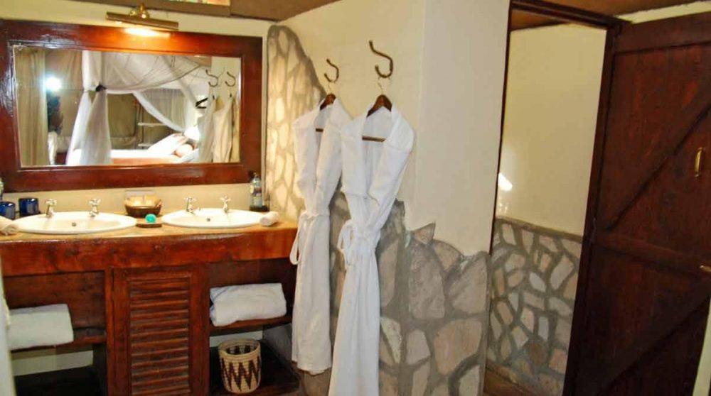 La salle de bains dans le Masai Mara