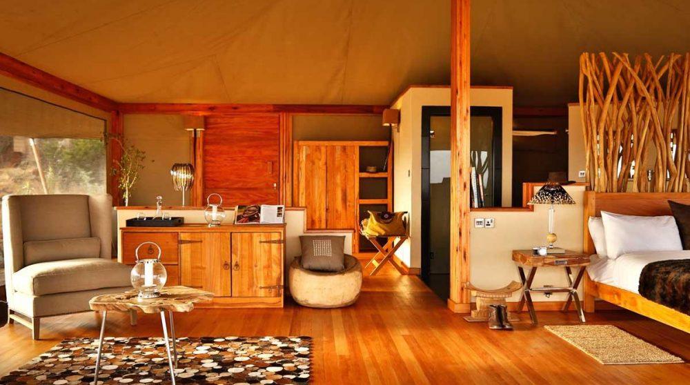 Autre vue de la tente au Kenya