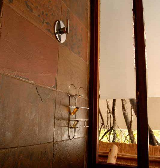 Une douche dans une salle de bains