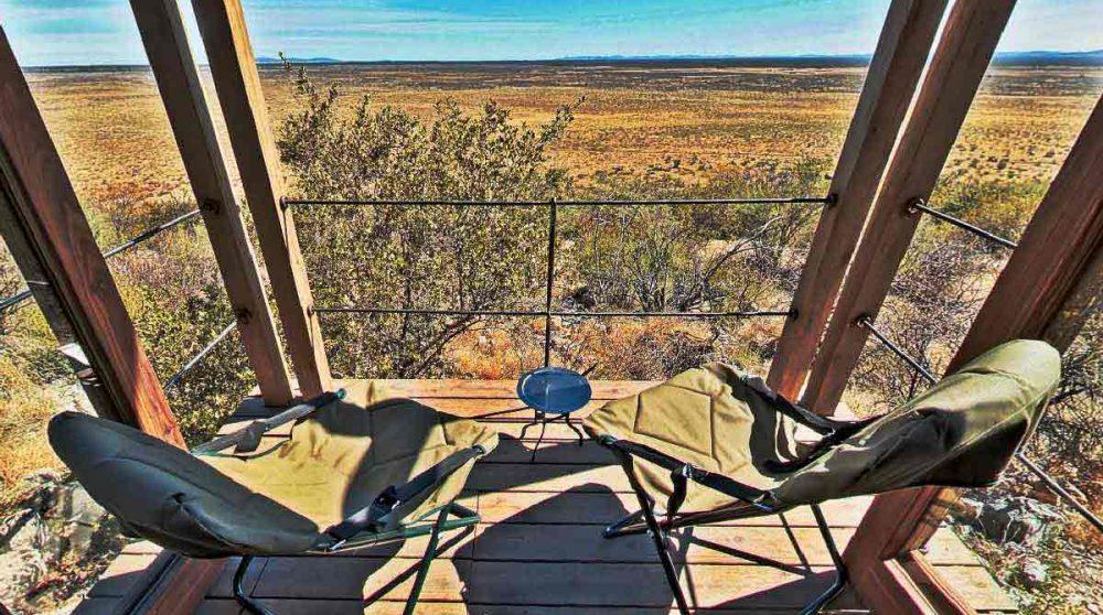 Balcon d'une chambre au camp