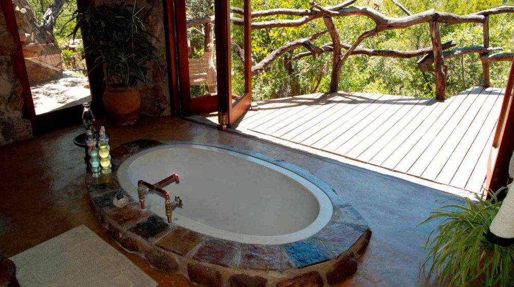 La baignoire d'un cottage au Ants Hill
