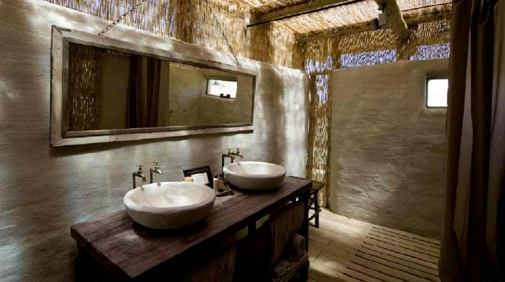 Salle de bains au Damaraland Camp