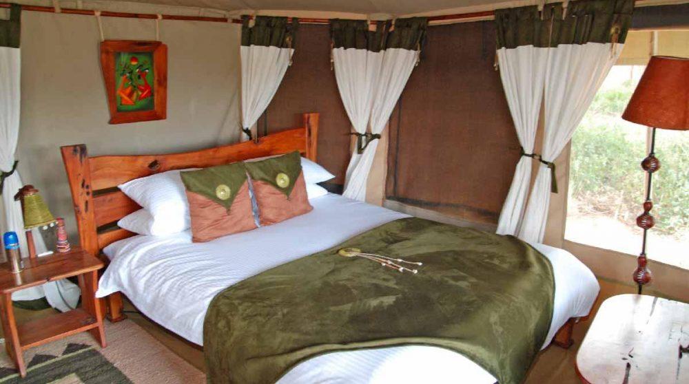 Une tente au Elephant Bedroom Camp