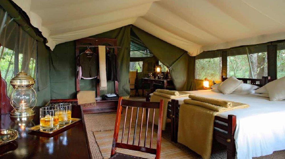 Autre exemple de tente à l'Elephant Pepper Camp