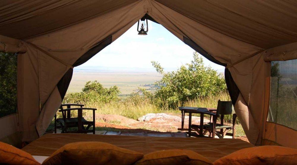 La vue sur la nature depuis une tente du Kilima Camp