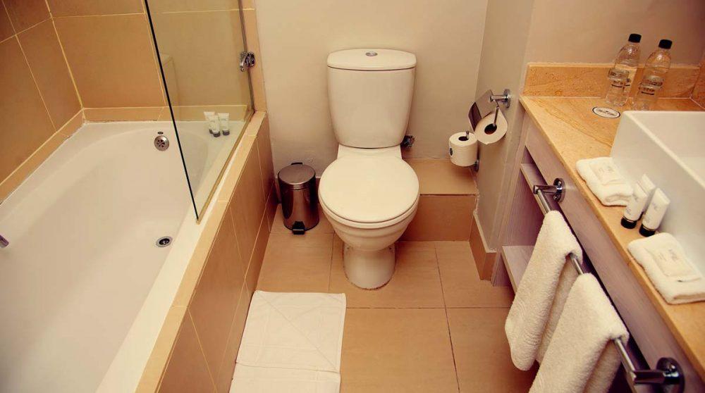 Une salle de bains de l'hôtel Franschhoek Hotel and Spa