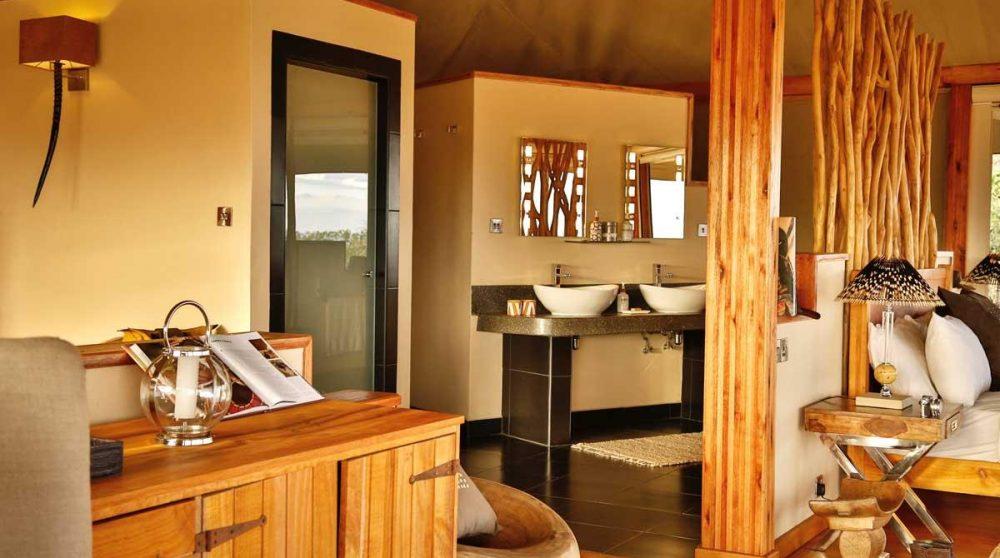 La salle de bains du Loisaba Tented Camp