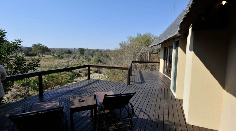 Terrasse d'une Luxury suite en Afrique du Sud