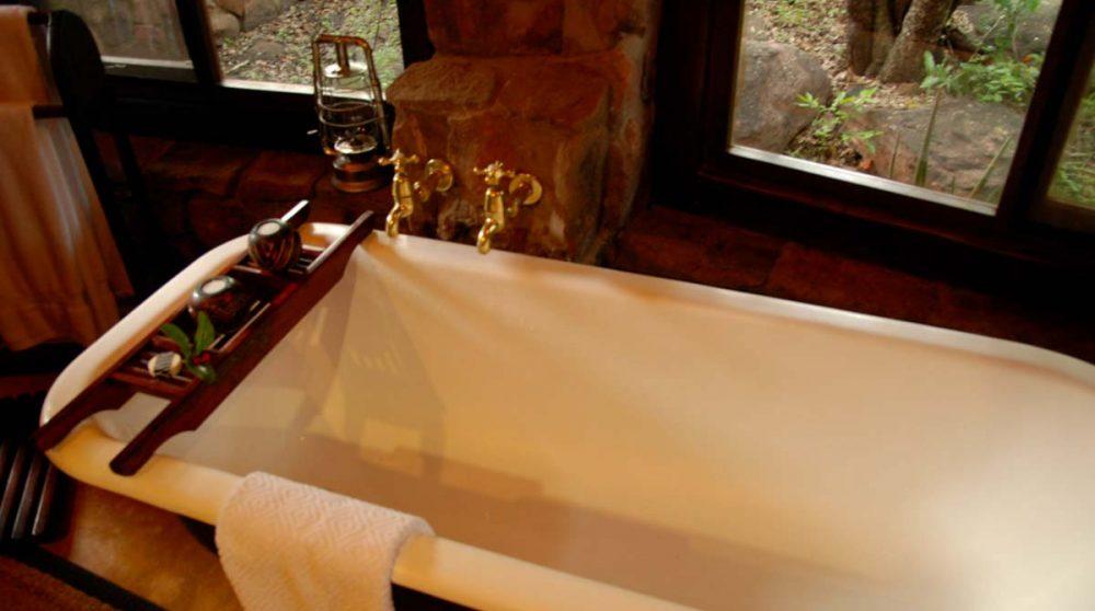 Baignoire au Makweti Safari Lodge