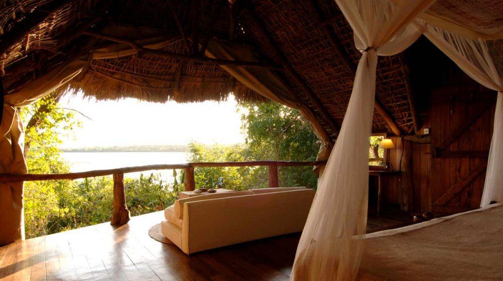 La vue depuis une chambre du Sand Rivers Selous