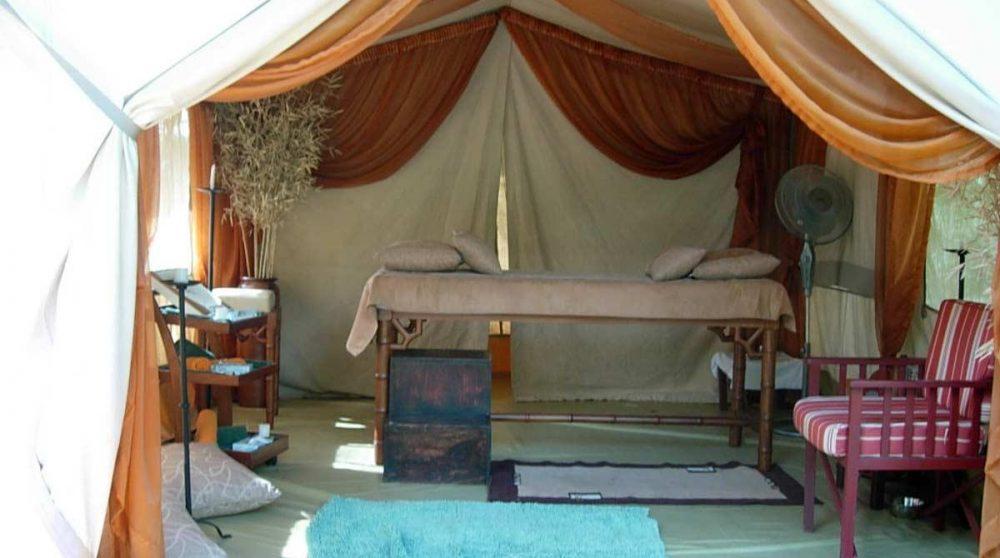 Espace pour se faire masser au Sarova Lion Hill Lodge