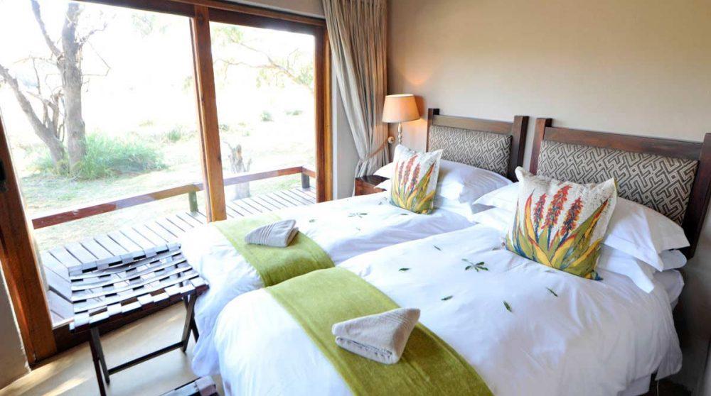 Chambre avec deux lits au Simbavati