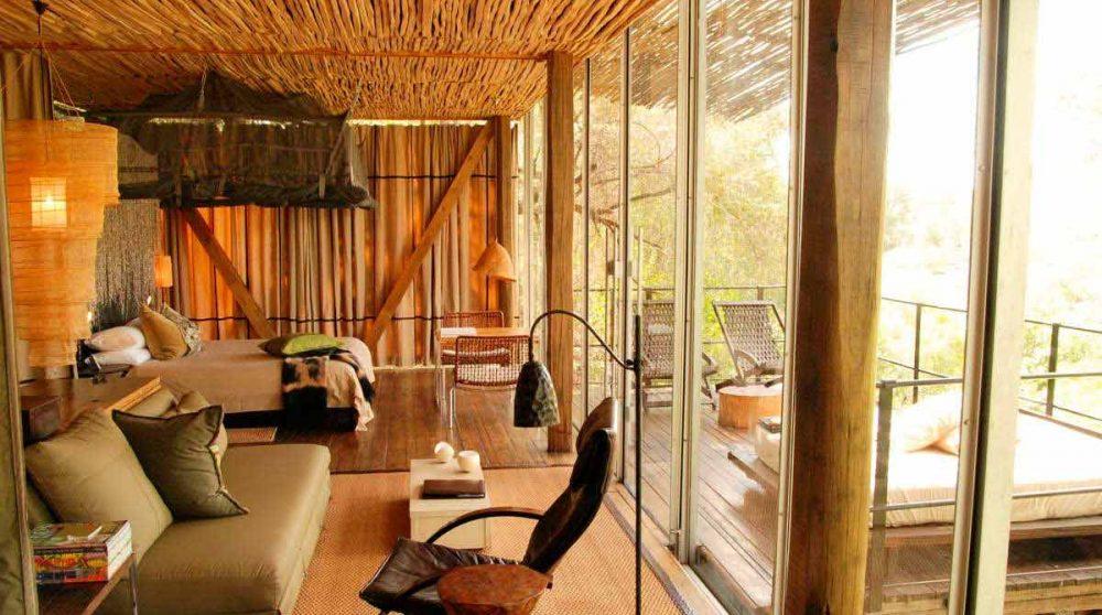 Une suite de l'hôtel au parc Kruger