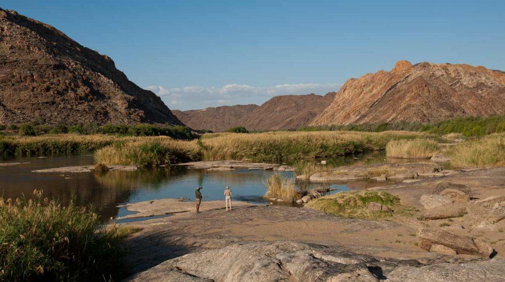 Observation sur les rives de l'Orange River au Tutwa Desert Lodge