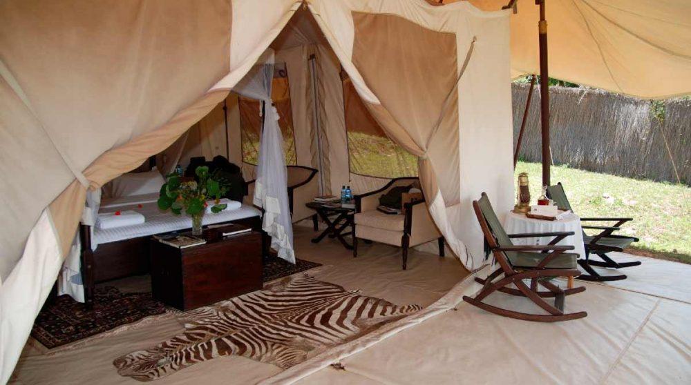 Autre exemple de tente au Kenya