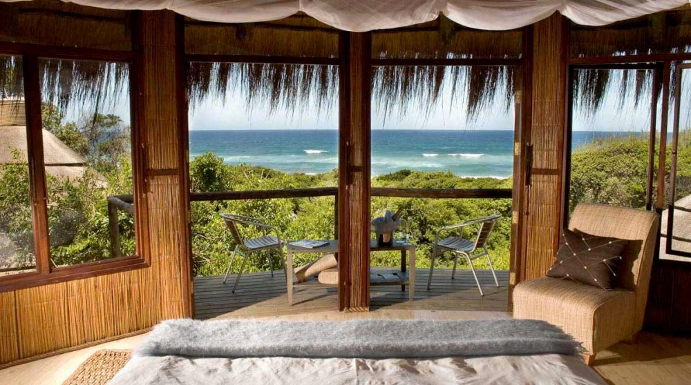 Vue sur l'océan depuis une chambre en Afrique du Sud