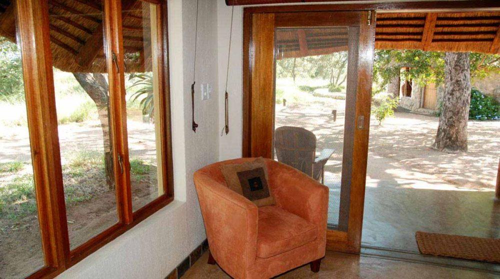 Fauteuil dans une chambre en Afrique du Sud