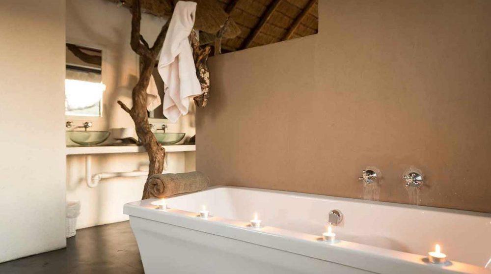 La baignoire d'Ezulwini River Lodge