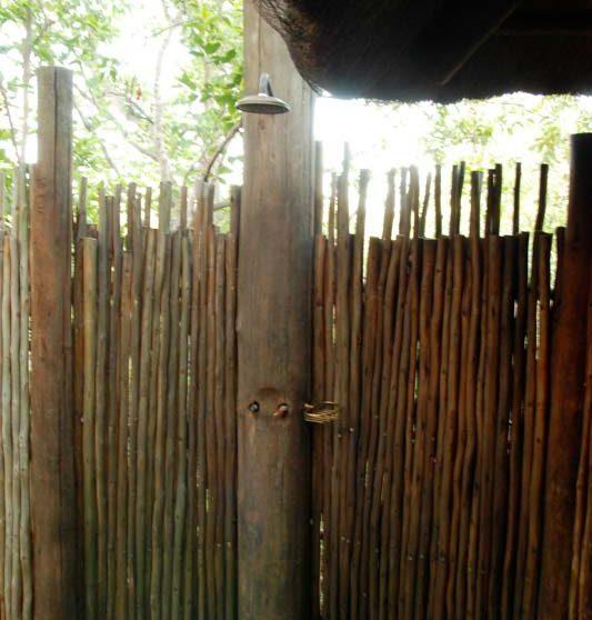 La douche extérieure en Afrique du Sud