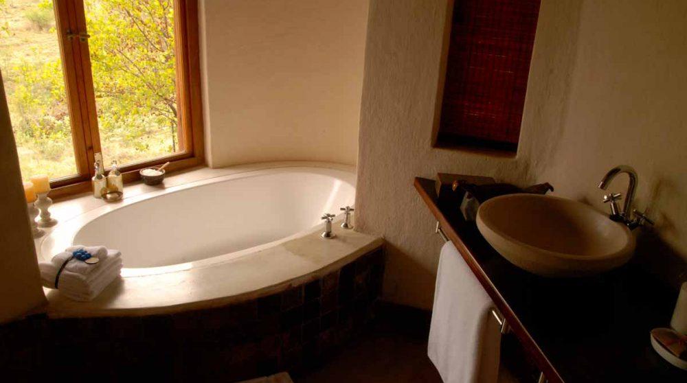 Baignoire dans une suite en Afrique du Sud