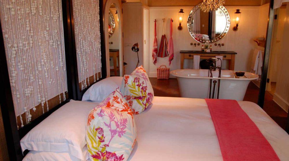 Le lit dans une suite en Afrique du Sud