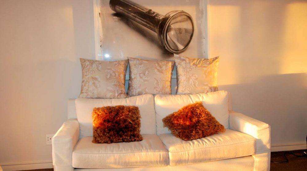 Le canapé d'une chambre superior en Afrique du Sud