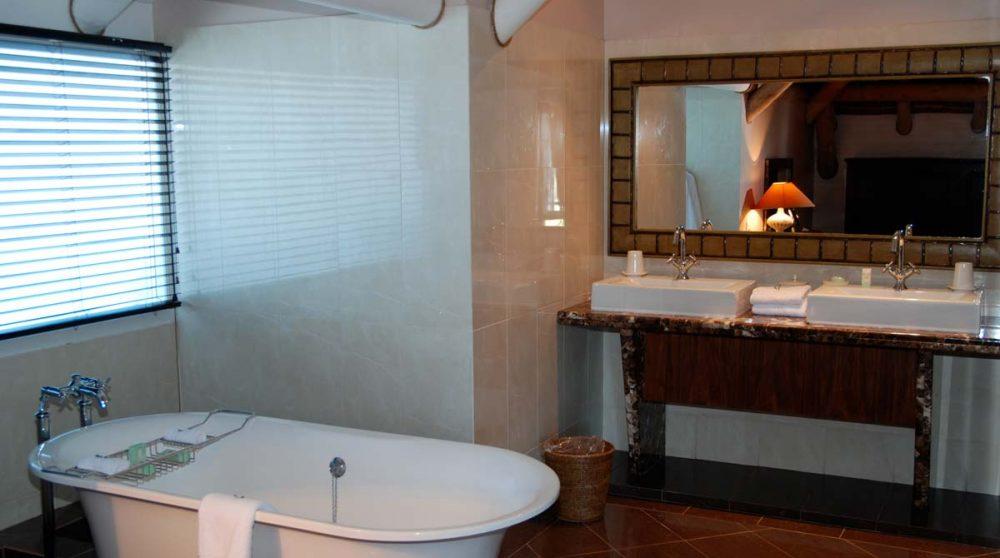 La baignoire de la suite en Afrique du Sud