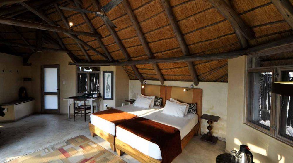 Lits dans une chambre en Namibie