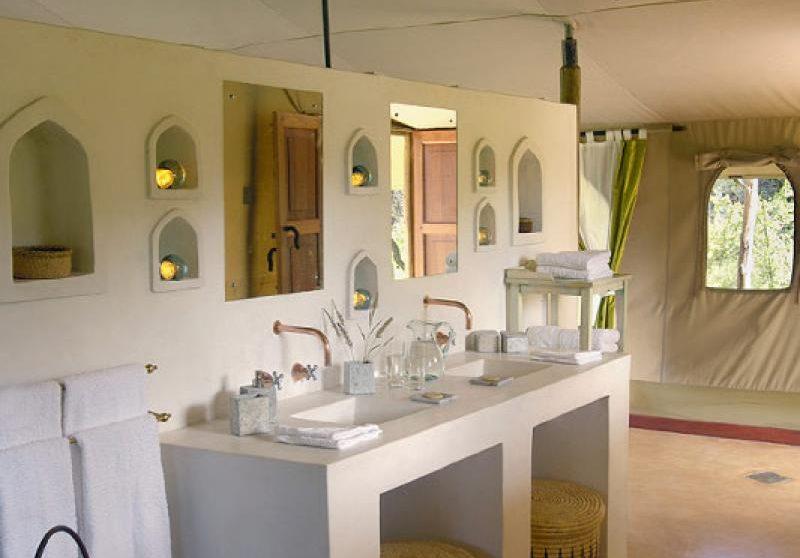 Autre vue de la salle de bains au Kenya