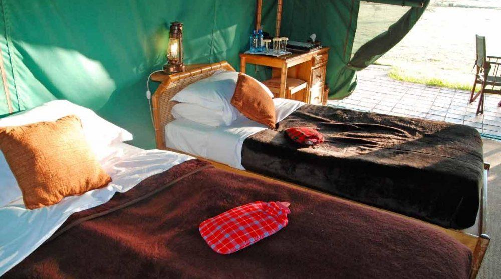 Vue sur les lits au Kenya