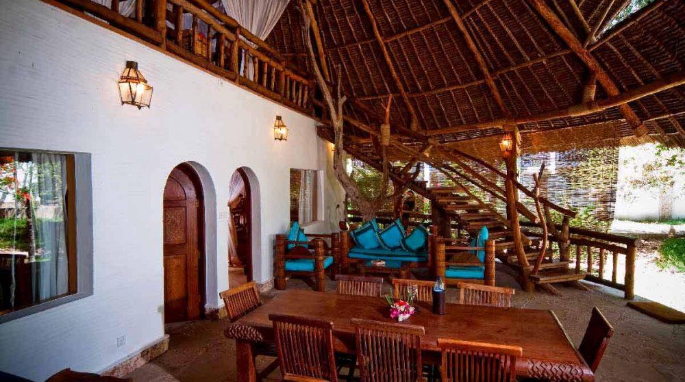 La salle à manger au Kenya
