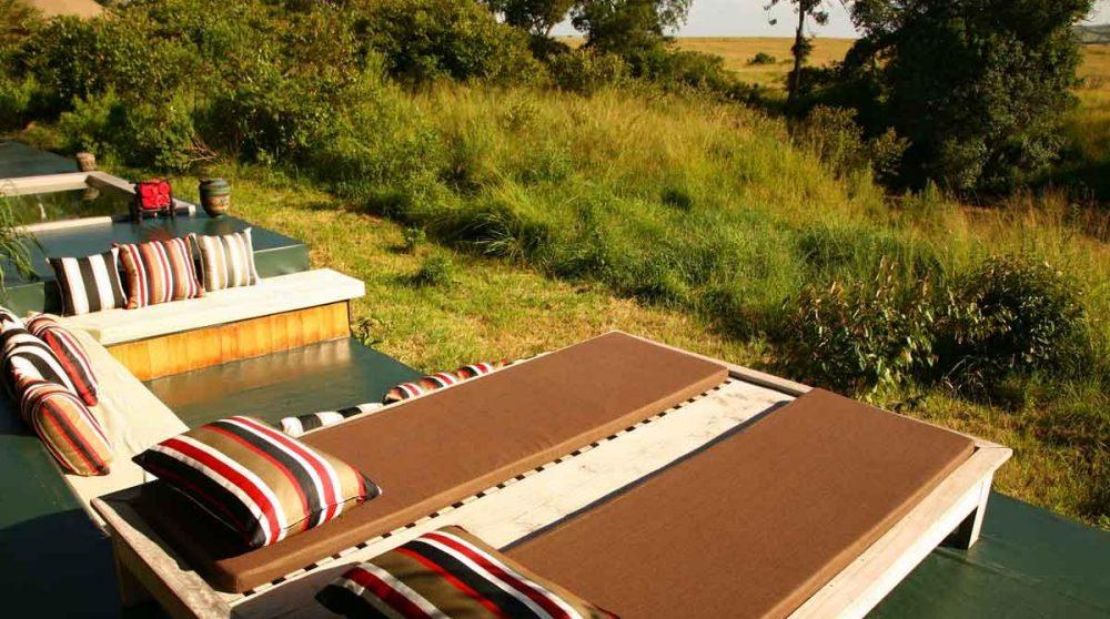 Chaises longues au Kenya