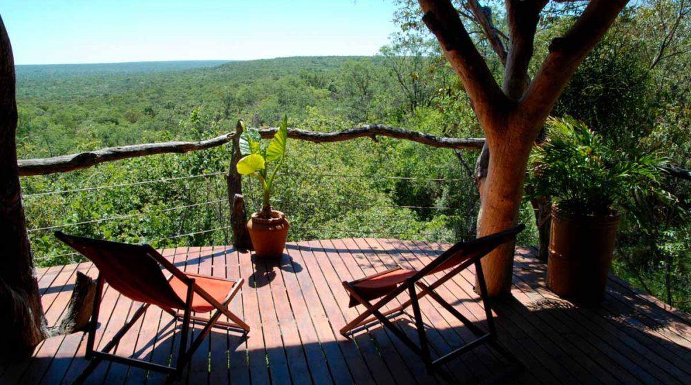 La terrasse avec vue à Waterberg