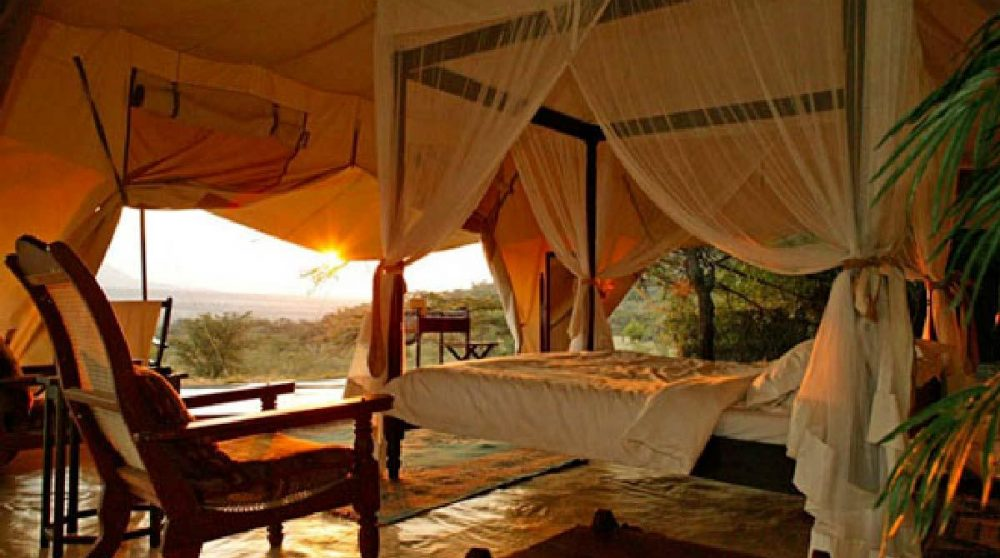 Une tente avec vue sur la nature