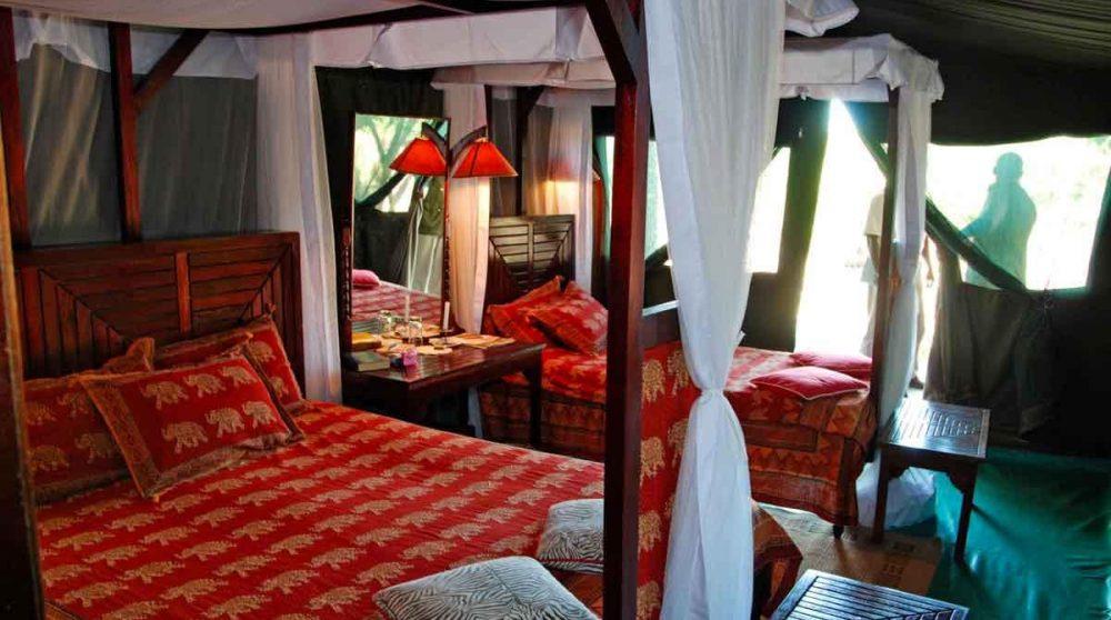 Décoration dans une tente