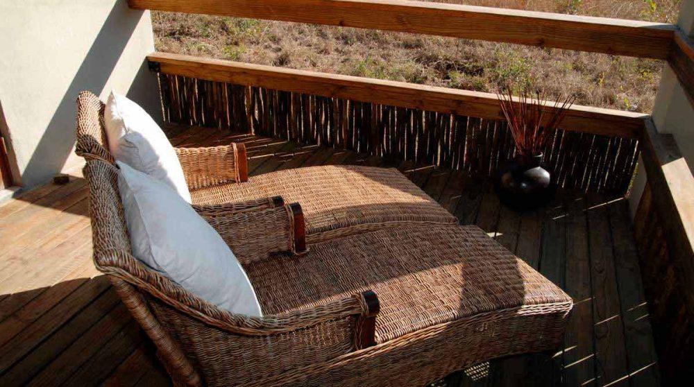Un balcon d'un chalet